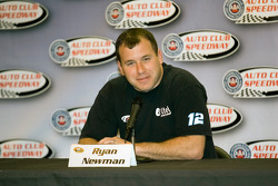 Ryan Newman speaks to the media