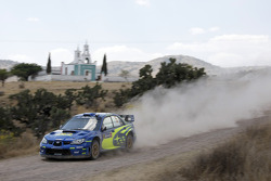 Petter Solberg y Phil Mills, Subaru World Rally Team, Subaru Impreza WRC2007