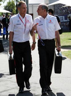 Martin Whitmarsh, McLaren, Chief Executive Officer, Ron Dennis, McLaren, Team Principal, Chairman