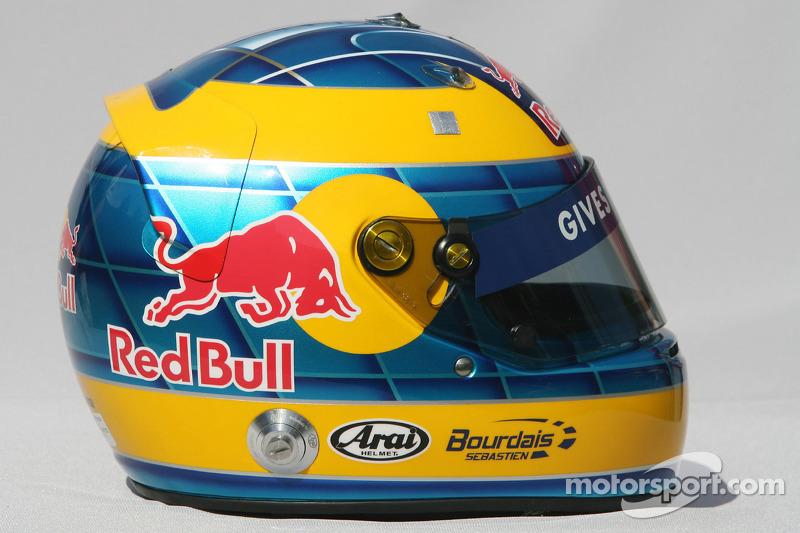 Sébastien Bourdais, Scuderia Toro Rosso, helmet