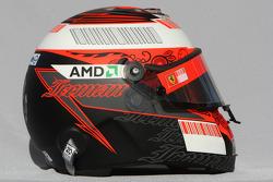 Kimi Raikkonen, Scuderia Ferrari, helmet