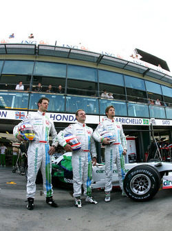 Jenson Button, Honda Racing F1 Team, Rubens Barrichello, Honda Racing F1 Team, Alexander Wurz, Test Driver, Honda Racing F1 Team