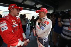 Kimi Raikkonen, Scuderia Ferrari, Heikki Kovalainen, McLaren Mercedes  / Drivers group picture 2008