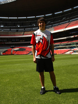 Robert Wickens, driver of A1 Team Canada at the Azteca stadium