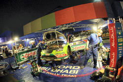 Mikko Hirvonen's Ford Focus RS WRC in service