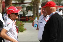 Heikki Kovalainen, McLaren Mercedes and Niki Lauda, Former F1 world champion and RTL TV