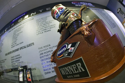 The Samsung 500 Trophy sits in the Media Center