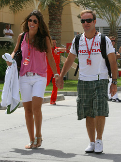 Silvana Barrichello, Wife of Rubens Barrichello and Rubens Barrichello, Honda Racing F1 Team