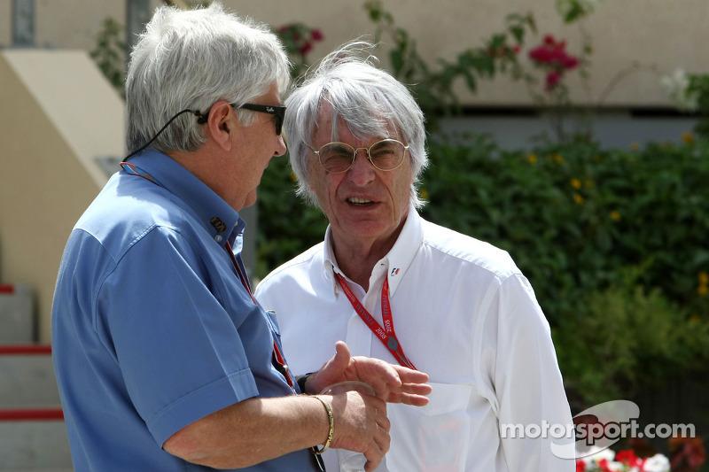 Herbie Blash, FIA Observer and Bernie Ecclestone, President and CEO of Formula One Management
