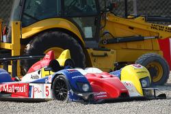 #5 Oreca - Matmut Courage-Oreca LC70 - Judd: Soheil Ayari, Stéphane Ortelli out of the race