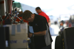 Mike Neff working in pit area