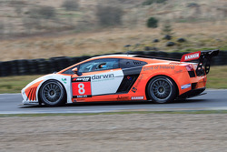 Qualifying Tech 9 Lamborghini Gallardo exiting Scotsman