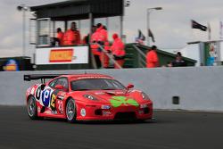 Christians in Motorsport Ferrari 430 on start finish straight