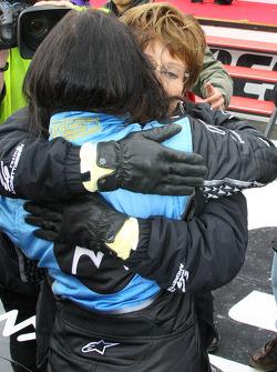 Danica Patrick fête sa première victoire