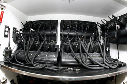 Racing Electronics gear on board the #5 Casey Mears hauler