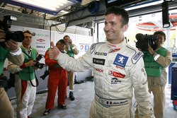 Pole winner Nicolas Minassian celebrates