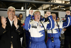 Peugeot CEO Jean-Philippe Collin and Michel Barge celebrate victory
