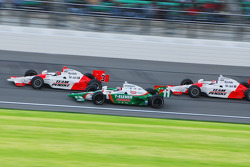 Helio Castroneves, Tony Kanaan and Ryan Briscoe