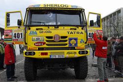 Tatra Team at scrutineering