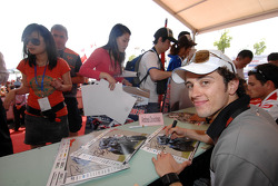 Andrea Dovizioso at an autograph session