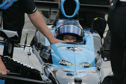 Danica Patrick is pushed to the qualifying line