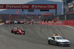 Felipe Massa, Scuderia Ferrari, F2008 behind the safety car