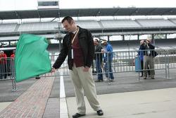 Honorary Starter, Jon Laski, 2008 Purdue Grand Prix Winner and IUPUI Student