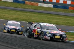 Mattias Ekström, Audi Sport Team Abt Sportsline, Audi A4 DTM, devant Martin Tomczyk, Audi Sport Team Abt Sportsline, Audi A4 DTM