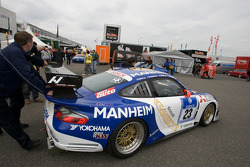 #23 Manthey Racing Porsche 911 GT3-MR at technical inspection