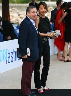 Jean Todt, Scuderia Ferrari, Ferrari CEO and Michelle Yeoh Girlfriend of Jean Todt Amber Fashion which benefits the  Elton John Aids Foundation