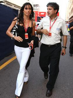 Elisabetta Gregoraci, Wife of Flavio Briatore and Pasquale Lattuneddu, FOM, Formula One Management