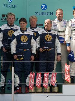 Podium: second place #23 Manthey Racing Porsche 911 GT3-MR: Armin Hahne, Christian Haarmann, Jochen Krumbach, Pierre Kaffer
