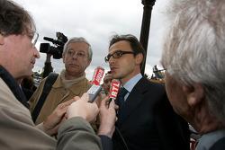 FIA deleguates exits the FIA Place de la Concorde headquarters after the Extraordinary General Assembly: Nicolas Deschaux