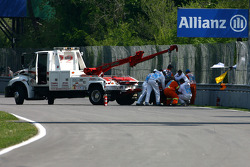 Sebastian Vettel, Scuderia Toro Rosso accident