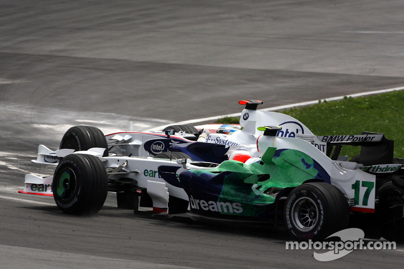 Nick Heidfeld, BMW Sauber F1 Team, Rubens Barrichello, Honda Racing F1 Team