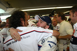 BMW Sauber F1 team celebrations: Nick Heidfeld