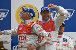 LM P1 podium: class and overall winners Tom Kristensen, Rinaldo Capello