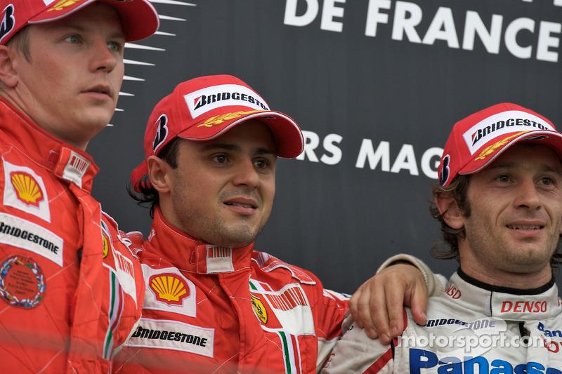 2008: 1. Фелипе Масса, 2. Кими Райкконен, 3. Ярно Трулли