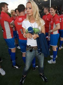 Audi Heroes Cup 'Human Kicker' event: Cora Schumacher