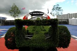 An F1 Car shape hedge