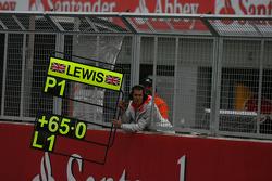 Lewis Hamilton, McLaren Mercedes had a strong lead