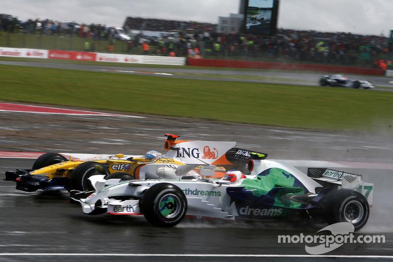 Fernando Alonso, Renault F1 Team, Rubens Barrichello, Honda Racing F1 Team