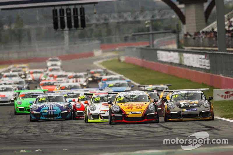 Race action in Carrera Cup Asia in 2016