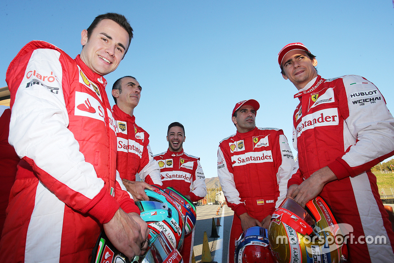 Davide Rigon, AF Corse; Andrea Bertolini, Ferrari; Antonio Fuoco, Ferrari; Marc Gene, Ferrari; Esteb