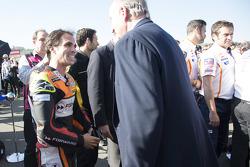 Toni Elias, Forward Racing Yamaha and former Spanish King Juan Carlos