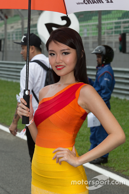 Grid girl na Asia Le Mans Series