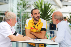 (L to R): Dr Helmut Marko, Red Bull Motorsport Consultant with Cyril Abiteboul, Renault Sport F1 Man