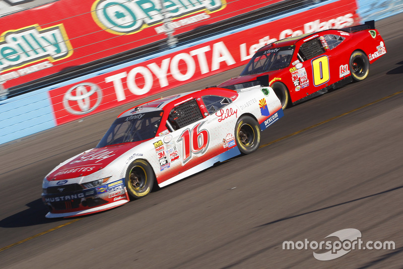 Ryan Reed, Roush Fenway Racing Ford and Harrison Rhodes, JD Motorsports Chevrolet
