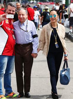 Жан Тодт, Президент FIA з his wife Michelle Yeoh