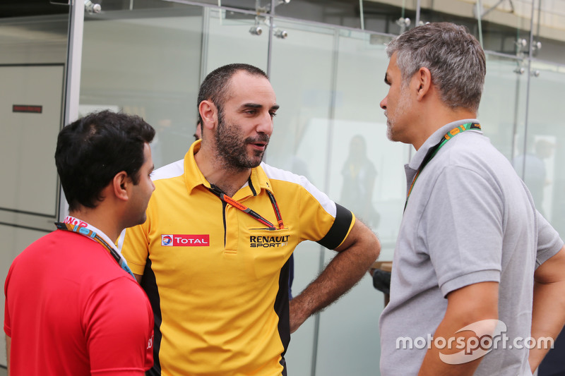 Cyril Abiteboul, Renault Sport F1, Geschäftsführer, mit Dieter Gass, Audi Sport, Leiter DTM